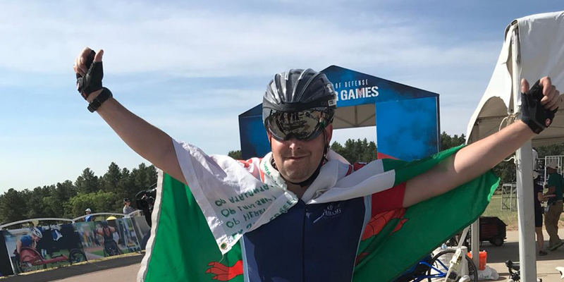 Armour supports Royal Signals Cyclist