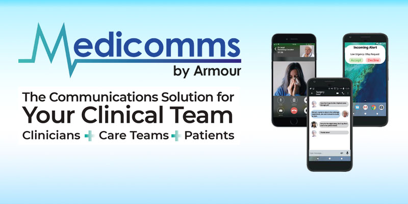 Medicomms by Armour selected for first NHSX Clinical Communications Procurement Framework