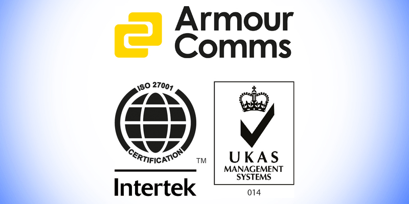 Armour Comms attains ISO27001 certification